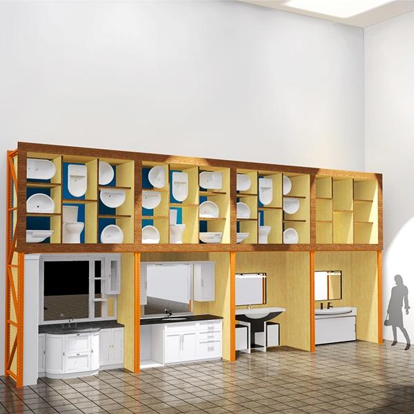 Встроенные полки для сантехники Для магазинов фото